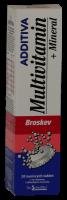 Additiva multivit.+minerál tbl.eff.20 broskev