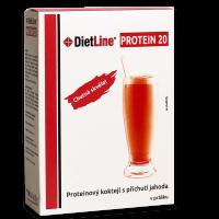 DietLine PROTEIN 20 proteinový kokteil jahoda - 3 porce