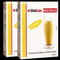 DietLine PROTEIN 20 proteinový kokteil  banán - 2 balení