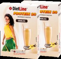 DietLine PROTEIN 20 proteinový kokteil  vanilka - 2 balení