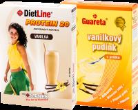 Vanilkový pudink + vanilkový koktejl 1+ 1 balení - letní nabídka